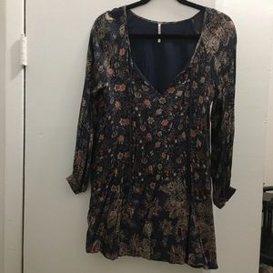 Free People Floral Long Sleeve Dress